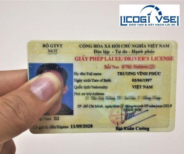 giấy phép lái xe hạng B2