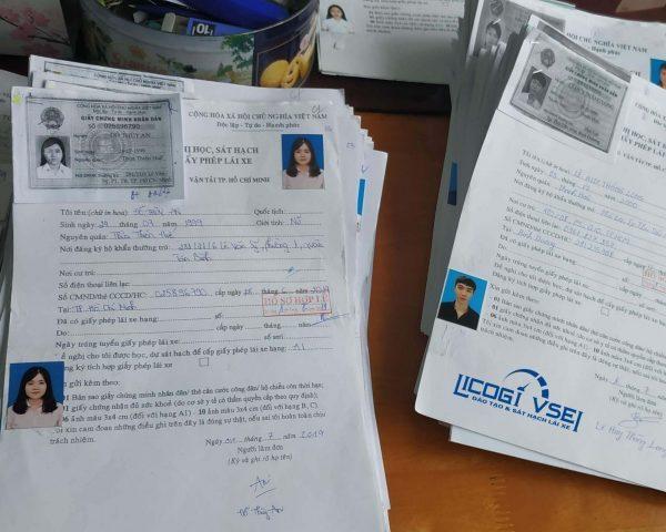 hồ sơ thi bằng lái xe ô tô