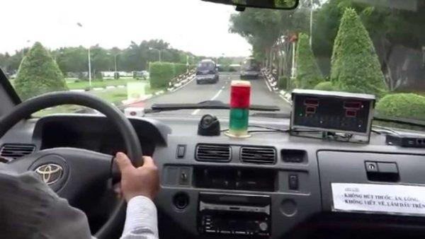 sân thi sát hạch sài đồng lái xe