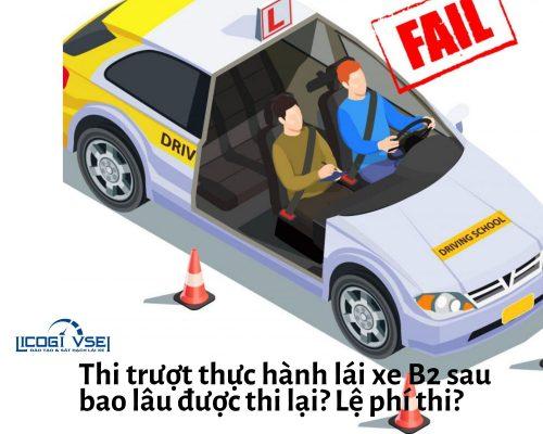 thi rớt thực hành lái xe b2